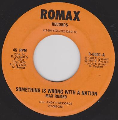 MAX ROMEO Something is wrong with a nation / JACKIE MITTO Sin city Romax Rare US