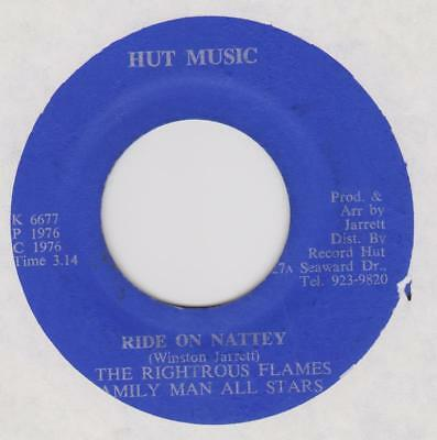 THE RIGHTEOUS FLAMES Ride on Natty / version Hut music Rare Jamaican reggae hear