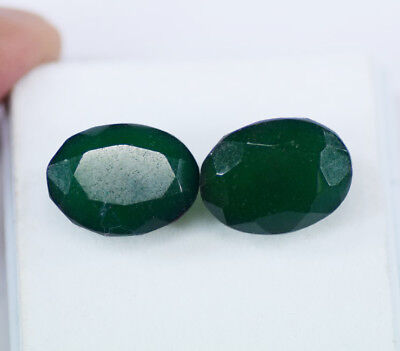 Awesome Deal 19.40 Carat Certified Green Emerald Pair Loose Gemstone ~DD8960