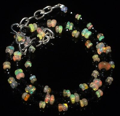 27 Ctw 1Necklace 2to4.5 mm genuine ethiopian opal beads with spinal beads  R6243