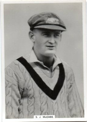 ARDATH / KINGS 1930's  PHOTOCARD CRICKETER  S.J. McCABE