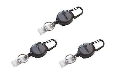"KEY-BAK Sidekick ID Badge & Key Reel, 24"" Kevlar Cord w/Polycarbonate Case 3pk"