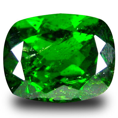 2.38 ct  Super-Excellent Cushion Shape (9 x 7 mm) Green Chrome Diopside Gemstone