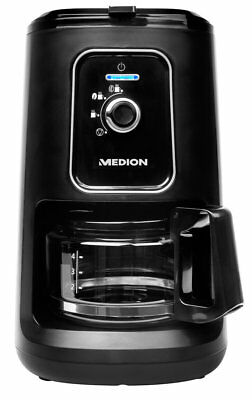 MEDION MD 1738 Kaffeemaschine mit Mahlwerk 2 in 1 Permanentfilter 600ml 900Watt
