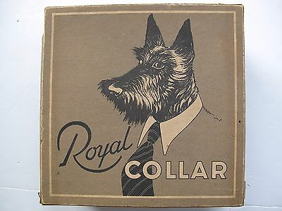 ROYAL COLLAR CARDBOARD COLLAR BOX with 9 collars - 1920s