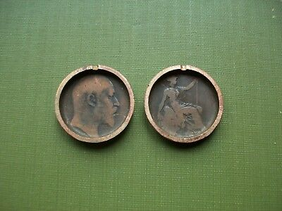 Very Unusual Love Token?: Edward Vii Coins Made Into A Locket?.