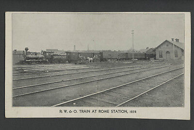 Rome, Watertown and Ogdensburg Railroad NY R.W.&O. TRAIN AT ROME STATION, 1878