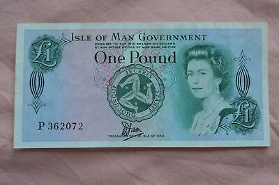 Isle of Man Government One Pound £1 Banknote P362072 bit rough