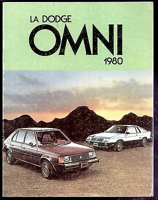 1980 Dodge Omni French Sales Brochure (12 pages)