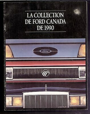 1990 Ford French Sales Brochure 24 Models shown (24 pages)