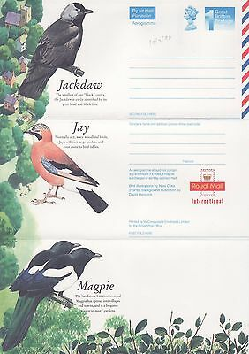 GB Stamps Aerogram / Air Letter APS102, 1st NVI Birds Issue, Crow Family 1994