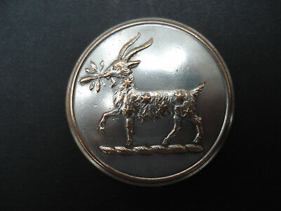 Vintage Silver Plated Livery Button With Goat - W Dowler