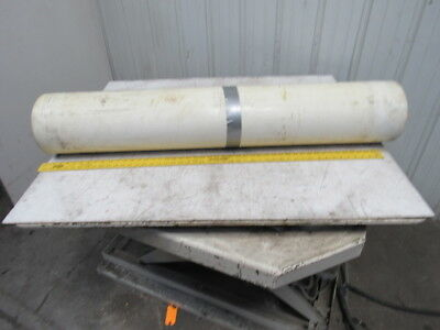 "2-Ply White/Clear Polyurethane Smooth Top Conveyor Belt 78' X 49"" X 0.065"""