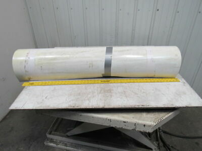 "3-Ply White  Smooth Top Conveyor Belt 37' X 49"" X 0.083"""