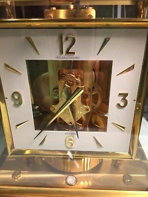 VINTAGE JAEGER LeCOULTRE ATMOS CLOCK CALIBER 528-8 SWISS MANTEL CLOCK S/N 417183