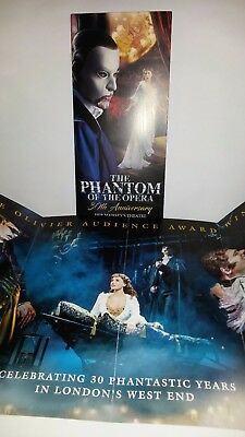 New The Phantom Of The Opera 30Th Leaflet Flyer Put With Tickets A Great Gift