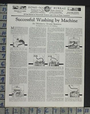 1926 Wash Machine How To Diy Bath Room Home Decor Vintage Art Article Ad  Co93