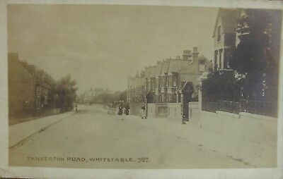 Tranquil Tankerton Road Whitstable Kent 1920 Rp Pc