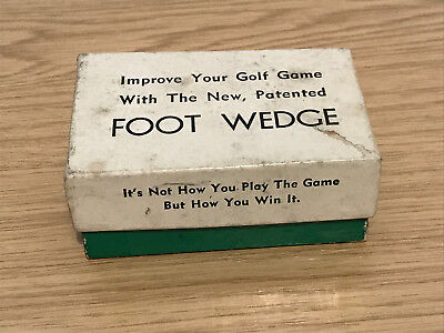 Boxed 1960s Novelty Golf Foot Wedge with Instructions