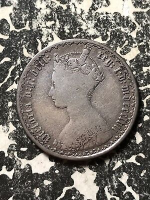 1857 Great Britain Gothic Florin Lot#X373 Silver!