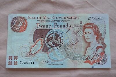 Isle of Man Government Ten Pound £10 Banknote Z024141 Replacement + ROUGH!