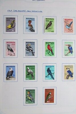 XL3007: Complete Mint Set 1967 Botswana Definitives.