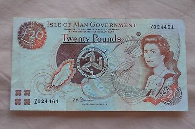 Isle of Man Government Ten Pound £10 Banknote Z024461 Replacement + ROUGH!