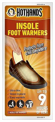 HotHands Insole Foot Warmer Pack Of 2 Insoles Up To 9 Hours Of Heat Shoe Boot
