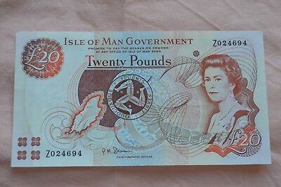 Isle of Man Government Ten Pound £10 Banknote Z024694 Replacement + ROUGHISH