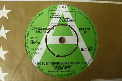 Marvin Gaye - Too Busy Thinking About My Baby 1969 UK 45 TAMLA MOTOWN DEMO