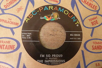 The Impressions - I'm So Proud 1964 USA 45 ABC PARAMOUNT