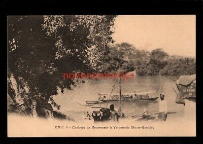HAUTE-GAMBIA Africa CHALOUPE GOUVERNEUR YARBUTENDA C.M.C. Missionary PC - 83