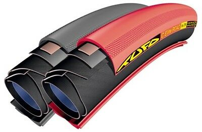 2x Tufo C Elite Road 700x23 tubular-clincher red. Fast road tyres