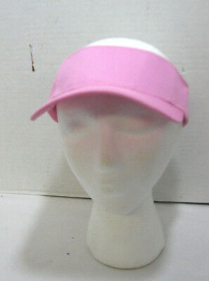 ed6642504f3 Women s Pink Adjustable Sun Visor 100% Cotton Tennis Golf Running Beach Hat  NEW