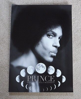 Prince Piano and Microphone B&W 2016 tour poster !