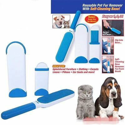 Pet Dog Cat Hurricane Fur Wizard Pet Fur Lint Remover Clean Brusher Travel SizeN