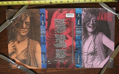 Janis Joplin 1993 cd UNCUT PRINTER PROOF SHEET poster