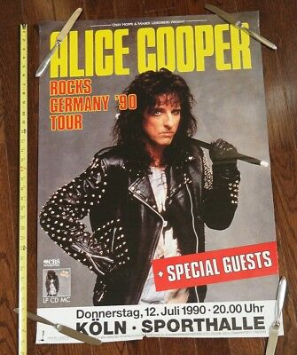 1990 Alice Cooper GERMANY subway promo concert poster
