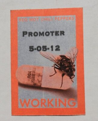 """RHCP Red Hot Chili Peppers 2012 """"promoter pass"""" tour concert ticket stub"""