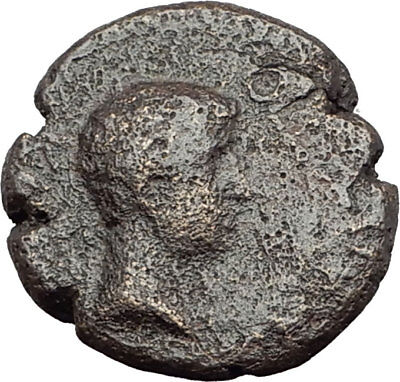 Greek King RHOEMETALKES of THRACE & AUGUSTUS Authentic Ancient Roman Coin i64631