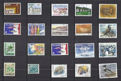 y2657 Iceland / A Small Collection  Early & Modern Used