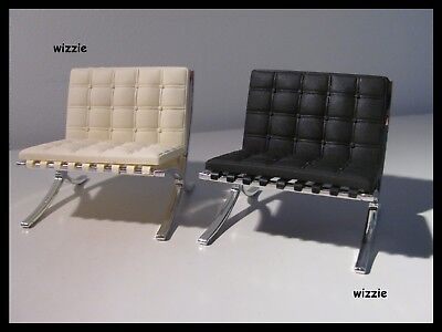 REAC JAPAN : 2x Miniature Barcelona Chair / Mies von der Rohe ( like Vitra )