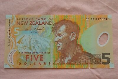 Reserve Bank of New Zealand Five Dollar $5 Banknote BE99602664 Lovely Condition