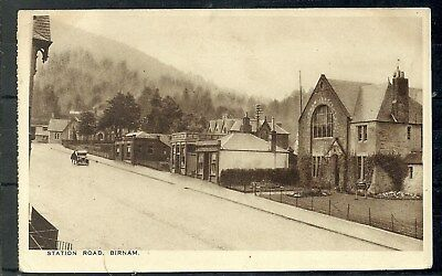 Postcard : Birnam Perthshire view of Station Road posted 1942