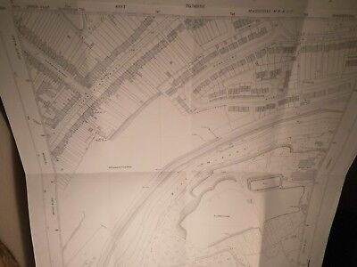 """Upper Frant,The Medway Paper Mills,Kent Planners Map 50"""":Mile Scale-Land Tax Use"""
