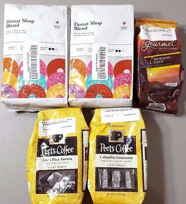 4.6 POUNDS! - Folgers, Peet's, Archer Farms (Target) - Coffee Variety Lot!