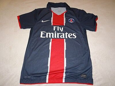 Paris Saint Germain Psg Football Shirt Home 2010/11 Size M Medium Adult Vvgc