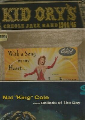"Four Fifties 10"" Lp's-Nat King Cole*jane Froman*kid Ory*sid Phillips"