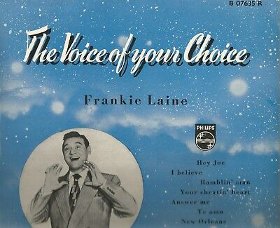 "Philips 10"" Lp * Frankie Laine * ""the Voice Of Your Choice"""