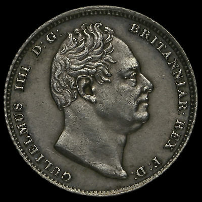 1831 William IV Milled Silver Sixpence, A/UNC